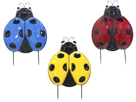 Ladybug Yard Stakes