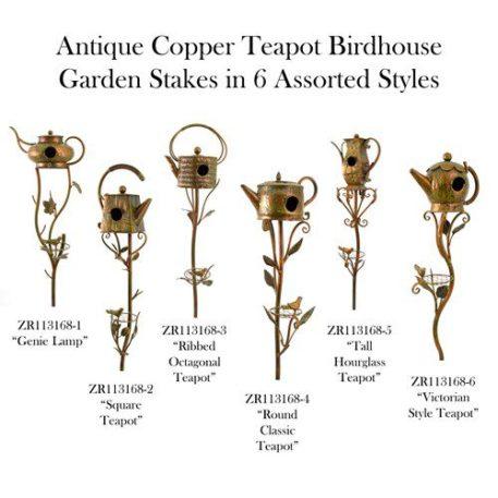 Antique Copper Teapot Birdhouse