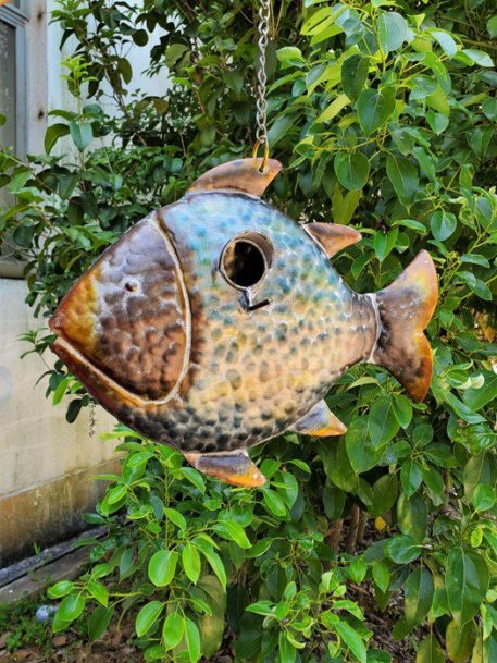 Coastal hanging birdhouse - Fish