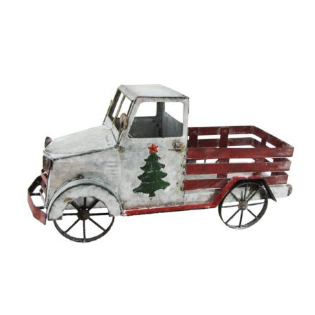 Old Style Galvanized Christmas Truck