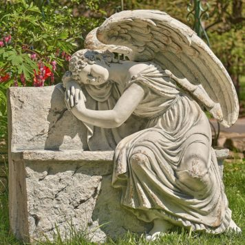 "Napping Angel On Bench ""Seraphina"""