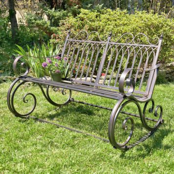 "Iron Rocking Garden Bench ""Tatiana"" Bronze"