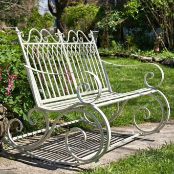 "Iron Rocking Garden Bench ""Tatiana"""