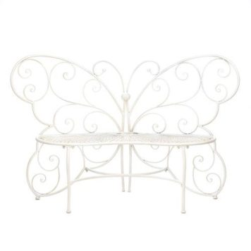 Iron Butterfly Garden Bench