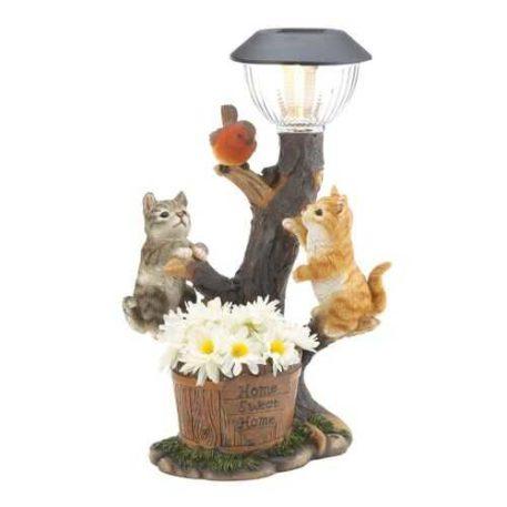 Solar Cat Statue