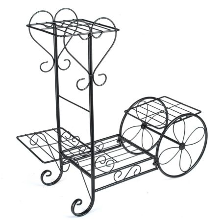 Heart Embellished Flower Pot Plant Stand