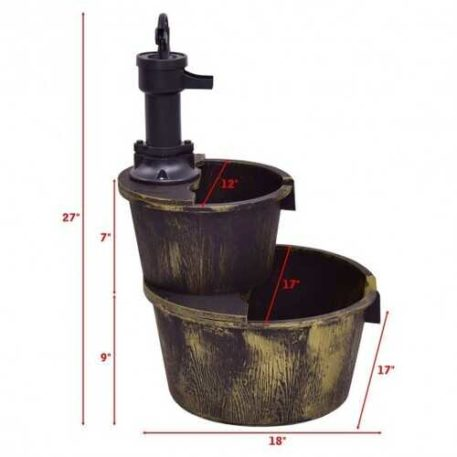 Rustic Well Pump Waterfall