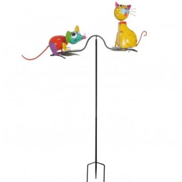 "61"" Cat & Mouse Balancing Yard Stake"
