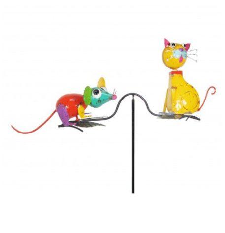"""61"""" Cat & Mouse Balancing Yard Stake"""