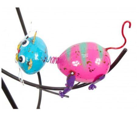 "58"" Playful Cats Balancing Yard Stake"