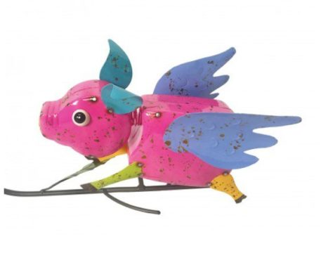 "56"" Flying Pigs Balancing Yard Stake"