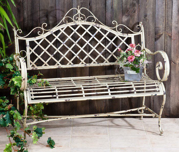Iron Garden Bench Stephania In, Antique Garden Bench