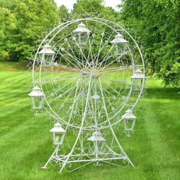 Large Iron Ferris Wheel Yard Decor