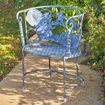 "Round Coastal Mermaid Chair ""Sirena"" Set"