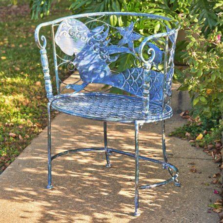 "Round Coastal Mermaid Chair ""Sirena"" Set"