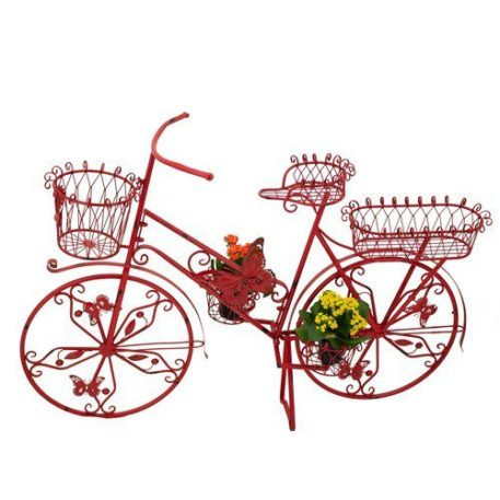 Bicycle Plant Stand with Butterflies