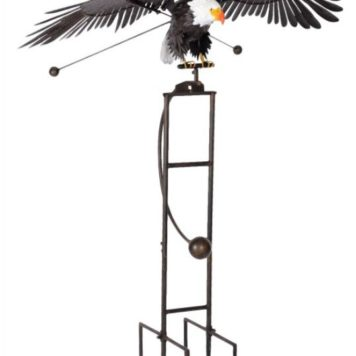 "76"" Rocking Eagle Flapping Wings Yard Stake"