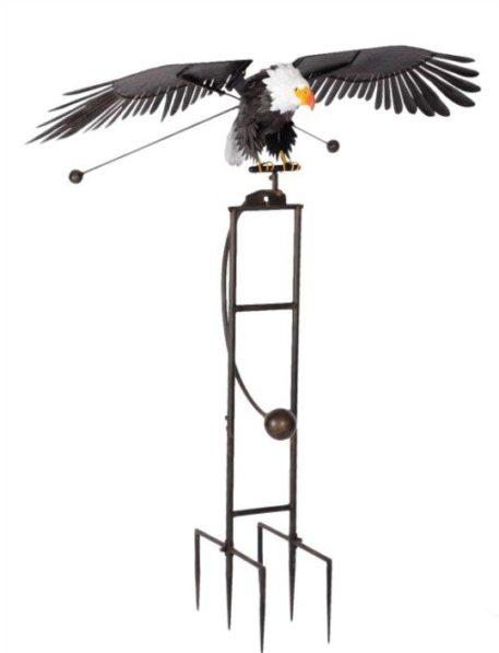 "76"" Rocking Eagle Flapping Wings Yard Stake"